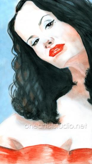 Dita von Teese por oneartiststudio